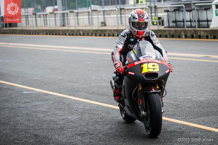 Alvaro Bautista Aprilia Brno test 2015