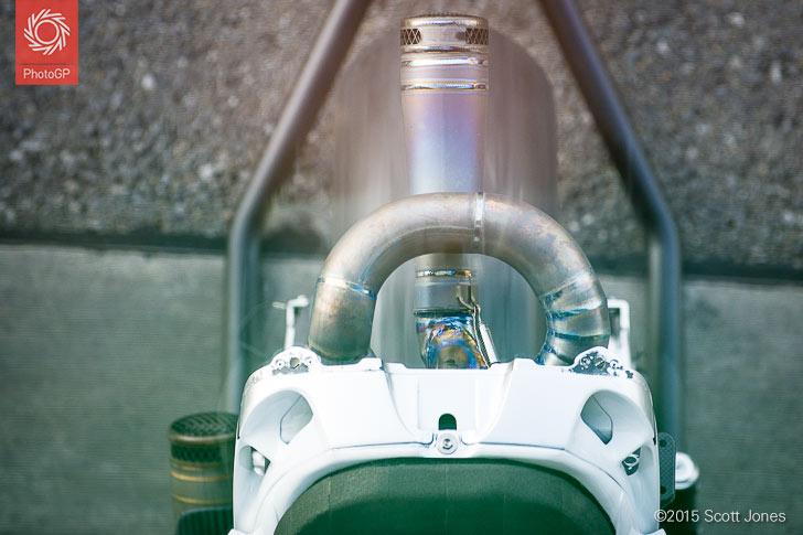 Aspar Honda RC213V-RS exhaust