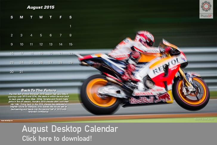 August 2015 Calendar Marc Marquez