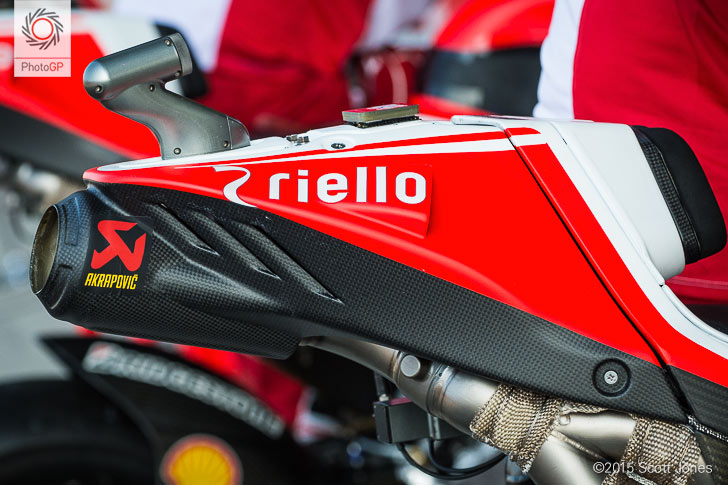 Ducati GP15 exhaust tail piece Brno 2015