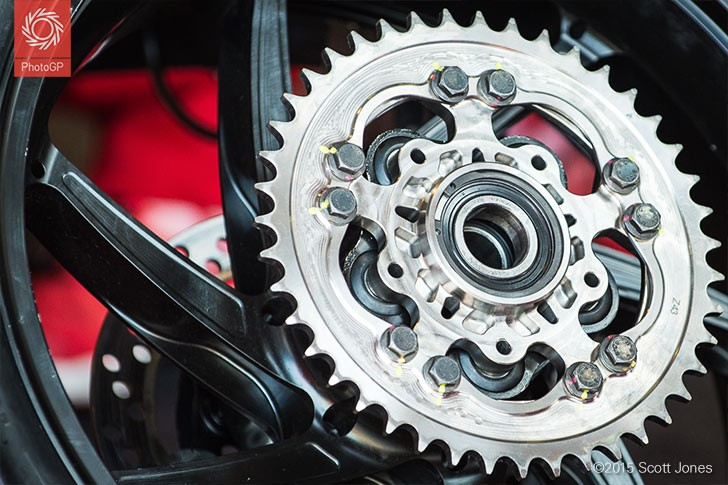 Ducati GP15 rear sprocket Brno 2015