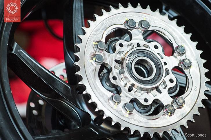 Ducati GP15 rear sprocket Brno 2015