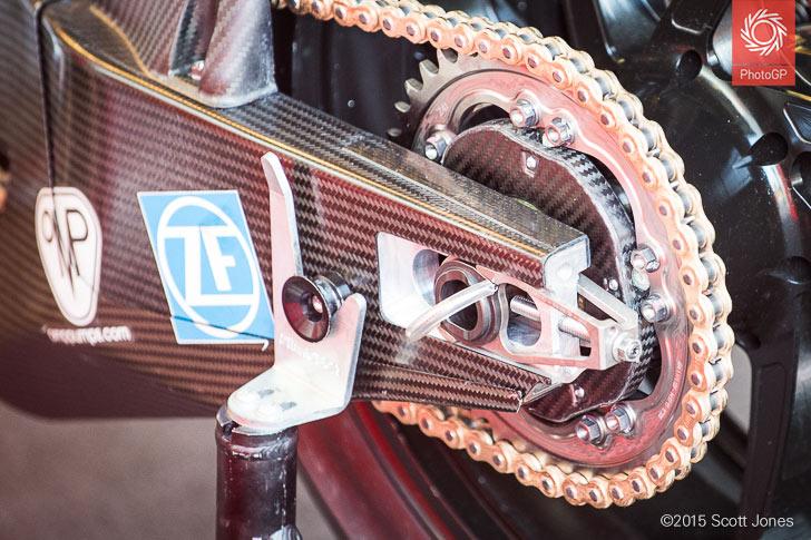Ducati GP15 rear sprocket carbon cover Brno 2015