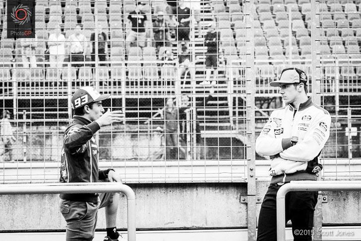 Marc Marquez Scott Redding Brno test 2015