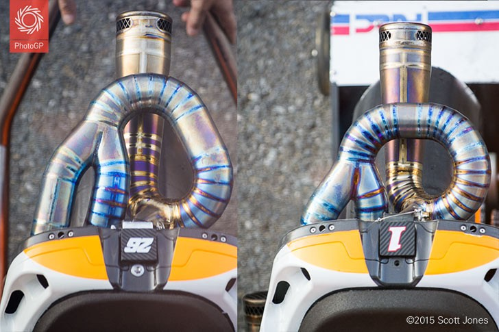 Repsol Honda tail pipe sections
