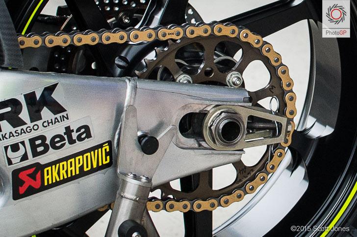 Suzuki rear sprocket Brno test 2015