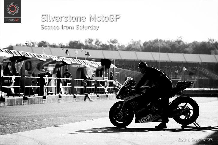 Silverstone MotoGP pit lane 2015