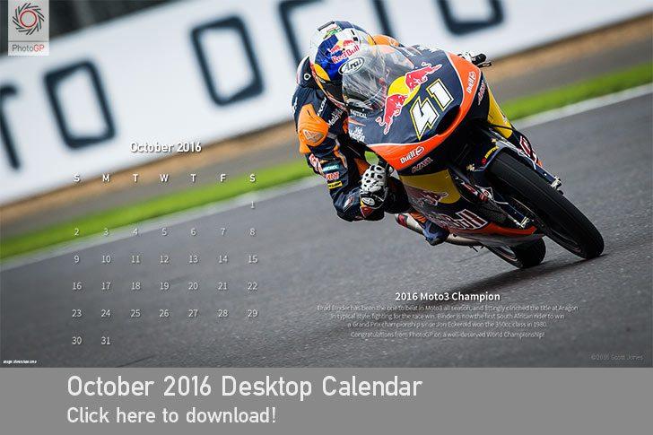 October 2016 Desktop Calendar